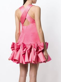 Shop online pink Viktor&Rolf Soir Bow Volant mini dress as well as new season, new arrivals daily. Kpop Outfits, Girly Outfits, Chic Outfits, Beautiful Dresses, Nice Dresses, Short Dresses, Victor And Rolf, Clothing Packaging, Designer Evening Dresses