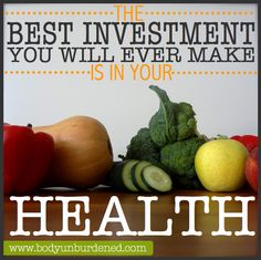 Do you agree? Click to learn a simple way to start making smarter investments in YOUR health today. Health, diet, and nutrition.