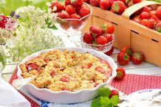 Smulpaj med jordgubbar   Året Runt Cauliflower, Macaroni And Cheese, Vegetables, Ethnic Recipes, Desserts, Food, Kaka, Tarts, Cheesecake