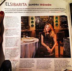 REVISTA Fuera de Serie_El SIbarita, entrevista Sandra Segimón Diciembre 2014 #prensa #caraymadrid #caray #restaurante #foodies #travel #food #comida #decoration #decor #design #gastronomy #gastro