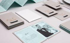 N&P wedding invitation by ADDA Studio, via Behance
