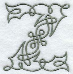 Celtic Knotwork Letter Z - 5 Inch design (F9352) from www.Emblibrary.com