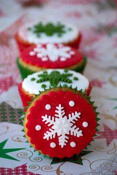 cupcakes navideños - Buscar con Google