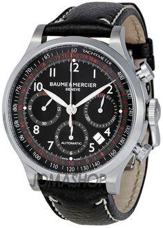 5d1b29fcd02 Baume and Mercier Capeland Black Dial Chronograph Mens Watch MOA10001  Melhores Relógios Para Homens