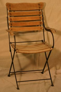 Antique Pair Of French Bistro Folding Chairs; $230.00