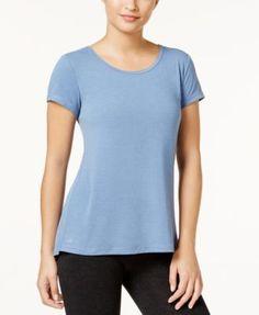 Ideology Slit-Back T-Shirt, Created for Macy's - Purple XXL