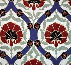 Ottoman Lilies Gobelin Upholstery by ArtofWeaving on Etsy, $40.00