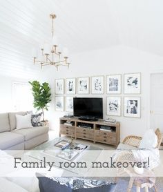 Family room before and after makeover - Driven by Decor
