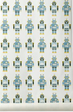 ferm Living.  Robot wallpaper.