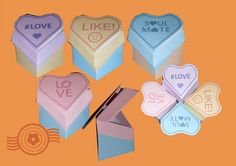 Love Heart Treat Boxes. Mini-card on lid! http://thepapercraftpost.blogspot.co.uk/2016/01/love-heart-treat-boxes.html