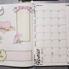 Ma page principale de Février... thème pastel (St Valentin oblige ! ) #leuchtturm #bulletjournal #bujo #bulletjournallove #bulletjournalfr #bujofr #bulletaddict #bulletjournalfr #illustration #dessin #mois #polychromos #fevrier2017 #intemporellecreation