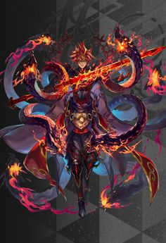 Hades - Has a symbiotic relationship with a alien with lava like skin, he gains powers while the alien gets a host to be able to survive Fantasy Armor, Dark Fantasy Art, Anime Fantasy, Fantasy World, Fantasy Character Design, Character Concept, Character Inspiration, Character Art, Armor Concept
