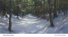 portfolio of the oil landscape paintings and prints of artist John MacDonald of the Berkshires in Williamstown Massachusetts. Landscape Paintings, Landscapes, Oil Paintings, Snow Art, Winter Painting, Large Painting, Sky, Woods, Paisajes