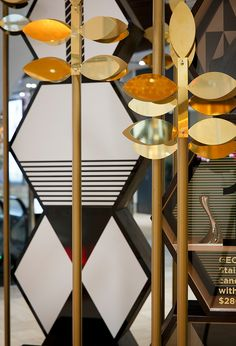 Highlighting the key trends of the season, geometric towers housed curated collections from Emporium's much-loved brands to celebrate their online AW15 campaign.