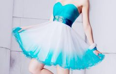 blue & white short dress love it!