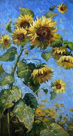 Автор:Калинин Михаил Алексеевич (1974 - ) Van Gogh Art, Art Van, Van Gogh Wallpaper, Sunflower Art, Renaissance Art, Fine Art, Art Plastique, Aesthetic Art, Oeuvre D'art