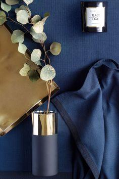 Glass vase - Black/Gold - Home All | H&M CA 1