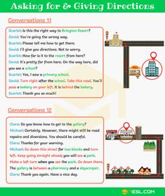 Asking for and Giving Directions - Image 1 English Learning Spoken, Education English, Teaching English, English Tips, English Study, English Lessons, Learn English For Free, Improve Your English, English Vocabulary