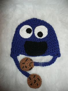FREE U.S.A. SHIPPING Cookie Monster Hat. $25.00, via Etsy.