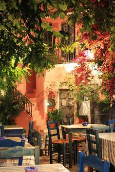 Travel Inspiration for Greece - The village square, Halki, Naxos, Greece