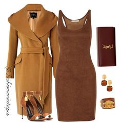 """""""Untitled #33"""" by divamanda on Polyvore featuring Hobbs, Tom Ford, Chico's, Yves Saint Laurent and Halston Heritage"""