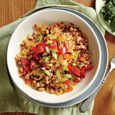Smoky Hoppin' John - Quick and Easy Vegetarian Recipes for Dinner Tonight - Cooking Light