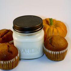 Wood Wick Soy Jar Candle -  Pumpkin Muffin 8 oz Mason Jar Candle | blackberrythyme - Candles on ArtFire