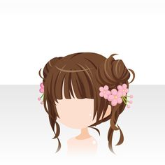 nu attrade anime hair cubs with flower clips/sticks Character Inspiration, Hair Inspiration, Character Design, Kawaii Chibi, Kawaii Anime, Pelo Anime, Chibi Hair, Manga Hair, Girl Hairstyles
