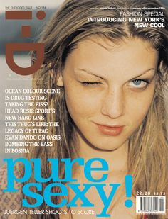 The Energised Issue No. 158 November 1996 Angela Lindvall by Juergen Teller