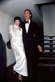 Halston and Liza Minnelli at a party he gave for her at 101 in 1975