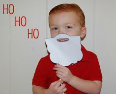 Santa beard on a stick--cute craft, would make for cute pics! esp if you used cotton balls too....