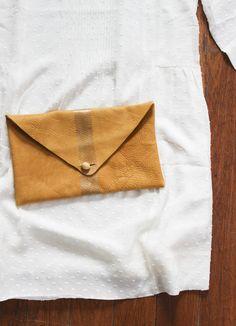 DIY: LEATHER CLUTCH   CLAD&CLOTH
