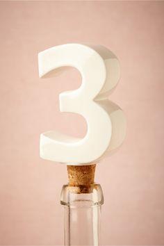 Number Bottle Stopper from BHLDN