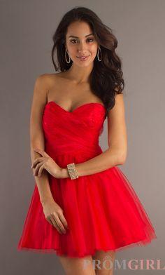 semi-formal red dress