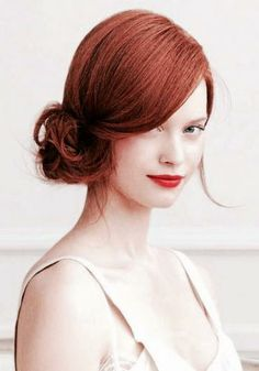 #red #copper #colour #hair #hairstyles #hairtrend #nak #nakhair #updo