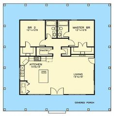 Plan Two Bedroom Southern Cottage Plan Two Bedroom Southern Cottage ingke iketelsmller Bungalows Two Bedroom Southern Cottage Floor Master Suite nbsp hellip 2 Bedroom House Plans, Cottage Floor Plans, Small House Floor Plans, Cottage House Plans, Cottage Homes, Guest House Cottage, Two Bedroom Tiny House, Two Bedroom Apartments, Southern Cottage