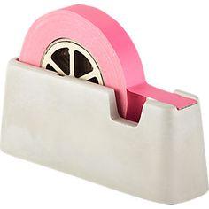 neon pink tape + concrete dispenser | CB2