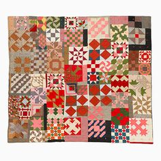 c.1890....Unique Quilt – Sampler Variation (Quilter's Stew) | Mingei