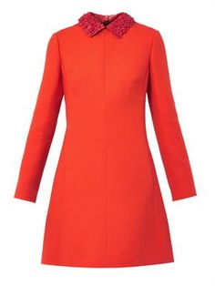 Cool Valentino 60s-style dress with leather collar