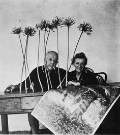 Robert Doisneau // Jacques and Janine Prévert, 1963, Antibes, France.