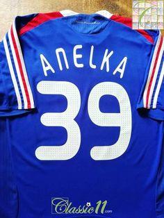 c8f6ecc6f 2007 08 France Home Football Shirt Anelka  39 (XL)
