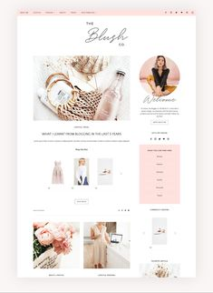 Blush Co. is a fully responsive, stylish and feminine WordPress Theme with endless possibilities! It is especially designed for Fashion, Beauty and Lifestyle Blog Design, Web Design, Design Trends, Graphic Design, Affiliate Marketing, Wordpress For Beginners, Header Banner, Web Themes, Best Wordpress Themes