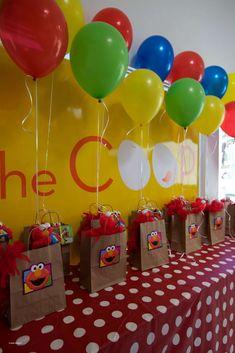 Sesame Street Elmo Theme Kids Birthday Party 0085 for Zoee. Baby 1st Birthday, 3rd Birthday Parties, Birthday Party Favors, Birthday Ideas, Toddler Party Favors, Baby Party, Party Bags, Seasame Street Party, Sesame Street Birthday