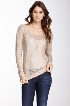 Long Sleeve V-Neck Knit Sweater