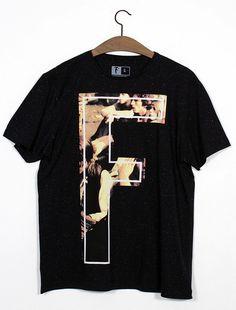 Men's tee Camiseta com estampa Figha