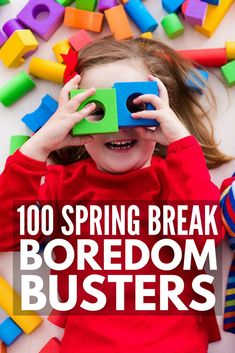 This fabulous guide of spring break activities for kids is your ticket to keeping your little ones entertained this March break. Whether you're going on a fun-filled family vacation down south, or enduring a week-long staycation in the cold, snowy weather, this collection of 100 simple yet fun spring break activities has everything from toilet paper crafts and LEGO activities to science experiments and play doh activities. #kidsactivities #kidscrafts #boredombusters #indooractivities