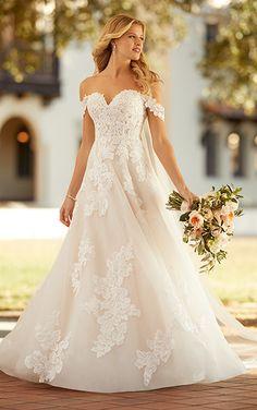 Off Shoulder Wedding Dress, Lace Wedding Dress, Dream Wedding Dresses, Designer Wedding Dresses, Wedding Gowns, Wedding Ceremonies, Wedding Blog, Fall Wedding, Wedding Stuff