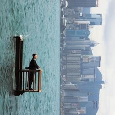 """Surreal Photography by Philippe Ramette """"Surprisingly enough, these images are not photoshopped! Rather they are visual illusions, or surreal photographs, made by French artist Philippe Ramette and. Creative Photography, Amazing Photography, Art Photography, Illusion Photography, Perspective Photography, Photoshop Photography, Street Photography, Photomontage, Kreative Portraits"""