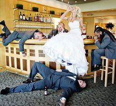 Getrunkene Braut Hochzeitsbilder