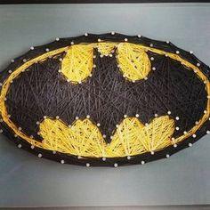 Custom Super Hero String Art on Wooden Plaque, batman, spiderman, superman, captain america, sonic the hedgehog